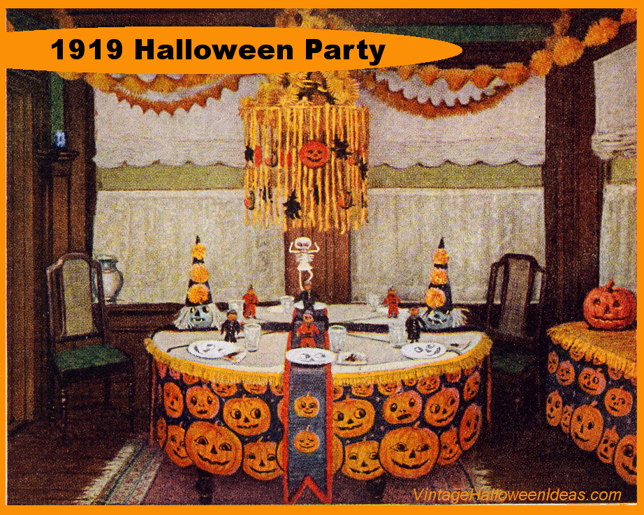 Vintage Halloween Decorating Ideas from 1919 found at www.VintageInfo.net