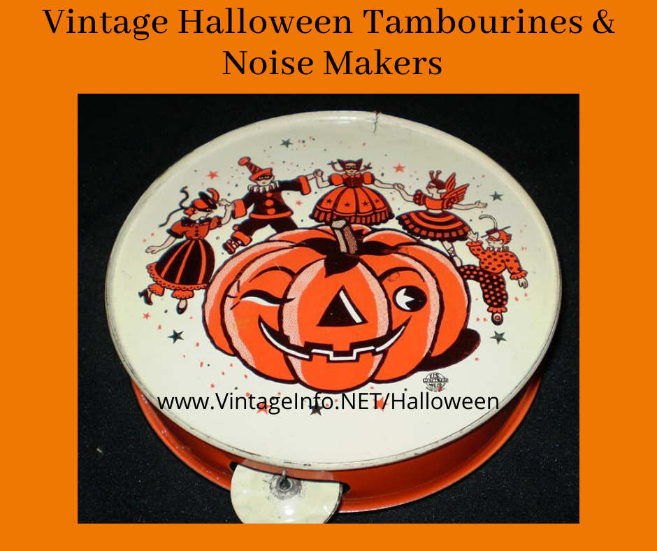 Vintage Halloween Tambourines and Noise Makers