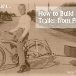How to build a bicycle trailer from plywood
