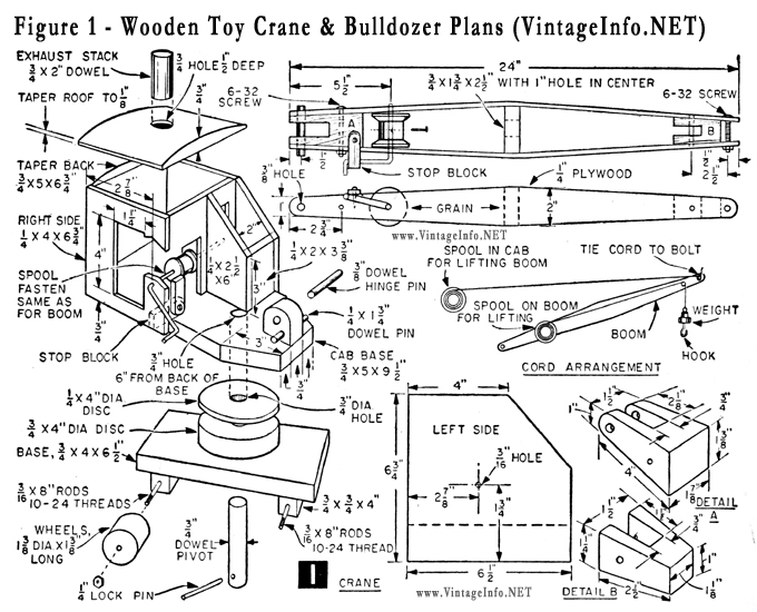 ... toy plans build a wooden toy crane and bulldozer free plans click to