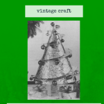 Make a Cone-Shaped Christmas Tree http://vintageinfo.net/make-your-own-cone-shaped-christmas-tree/