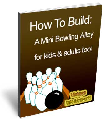 Mini bowling alley plans cover