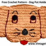 Free Dog Potholder Crochet Pattern http://vintageinfo.net/dog-potholder-pattern