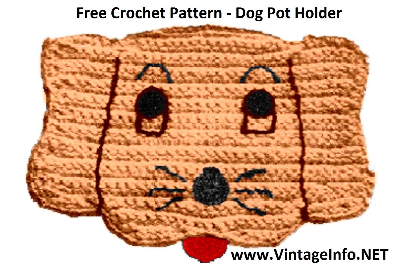 Free Dog Potholder Crochet Pattern http://vintageinfo.net/dog-potholder-pattern