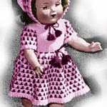 18 Inch Doll Dress and Bonnet Knitting Pattern