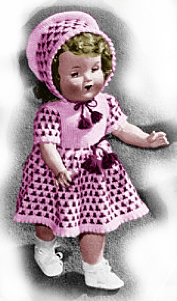 18 Inch Doll Dress and Bonnet Knitting Patterns The ...