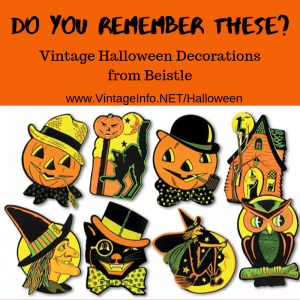 Vintage Halloween Decorations from Beistle