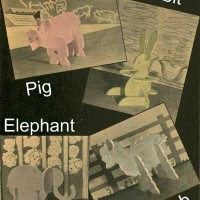 Wooden Animal Puzzle Patterns – Rabbit, Pig, Elephant & Lamb