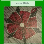 Crochet Flower Potholder Pattern circa 1960's from the Vintage Info Network
