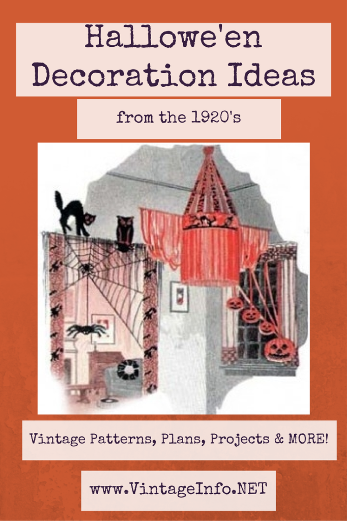 Fabulous Halloween Decorating Ideas from the 1920's!