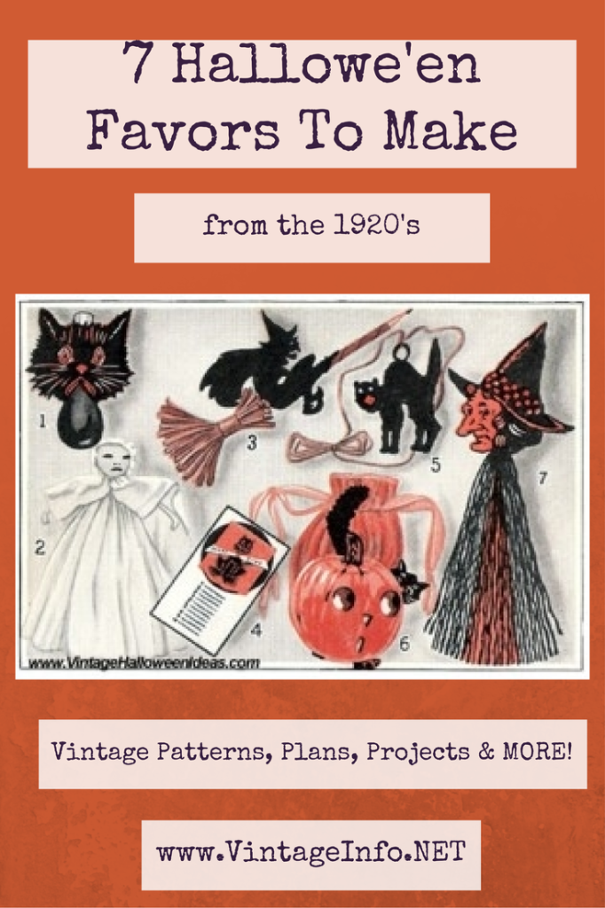 7 Halloween Favors To Make http://vintageinfo.net/vintage-halloween-favors-to-make/