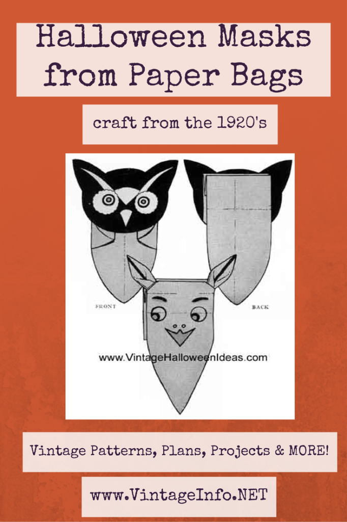 Make Halloween Masks from Paper Bags http://vintageinfo.net/paper-bag-halloween-mask/