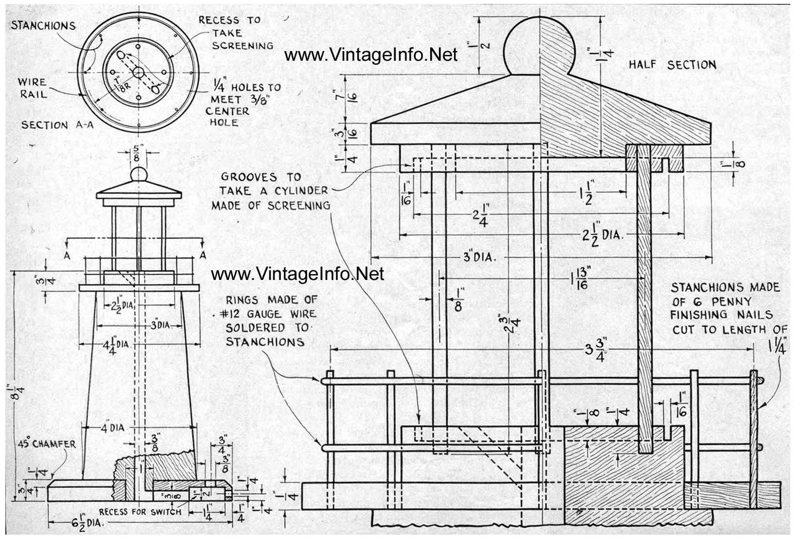 Woodwork wooden lighthouse plans free pdf plans Make a house blueprint online free