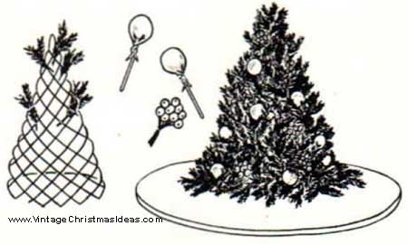 mini christmas tree craft