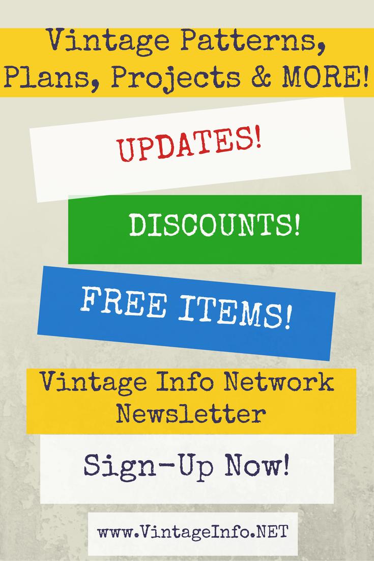 Newsletter - Vintage Info Network http://www.vintageinfo.net/newsletter