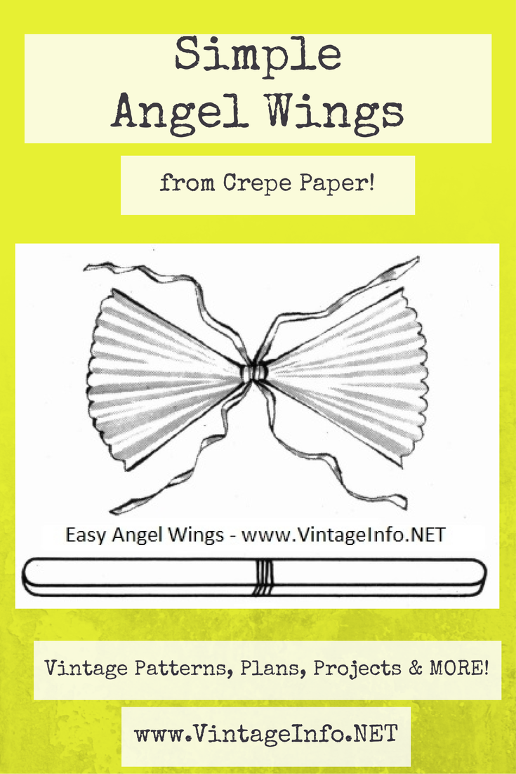 Simple Angel Wings to Make http://vintageinfo.net/easy-angel-wings-to-make/