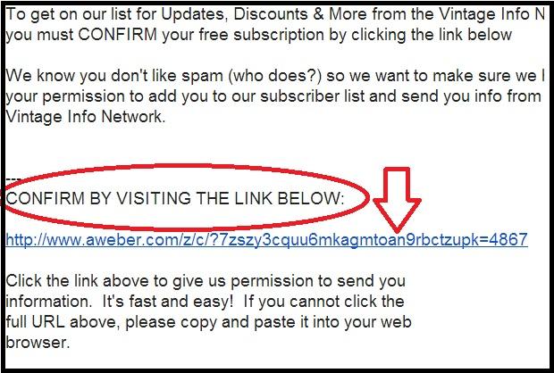 Confirm e-mail link http://vintageinfo.net/newsletter/