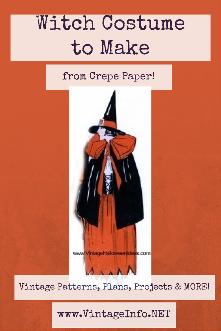 Witch Costume to Make http://vintageinfo.net/homemade-witch-costume/