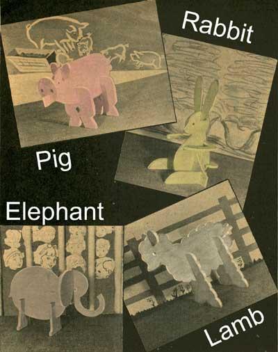 4 Animal Puzzles