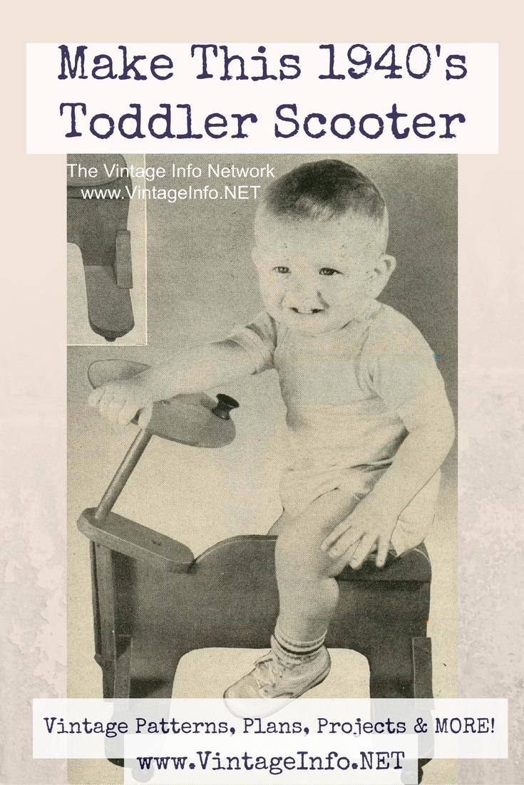 Toddler Scooter Plans http://vintageinfo.net/wooden-toddler-scooter/